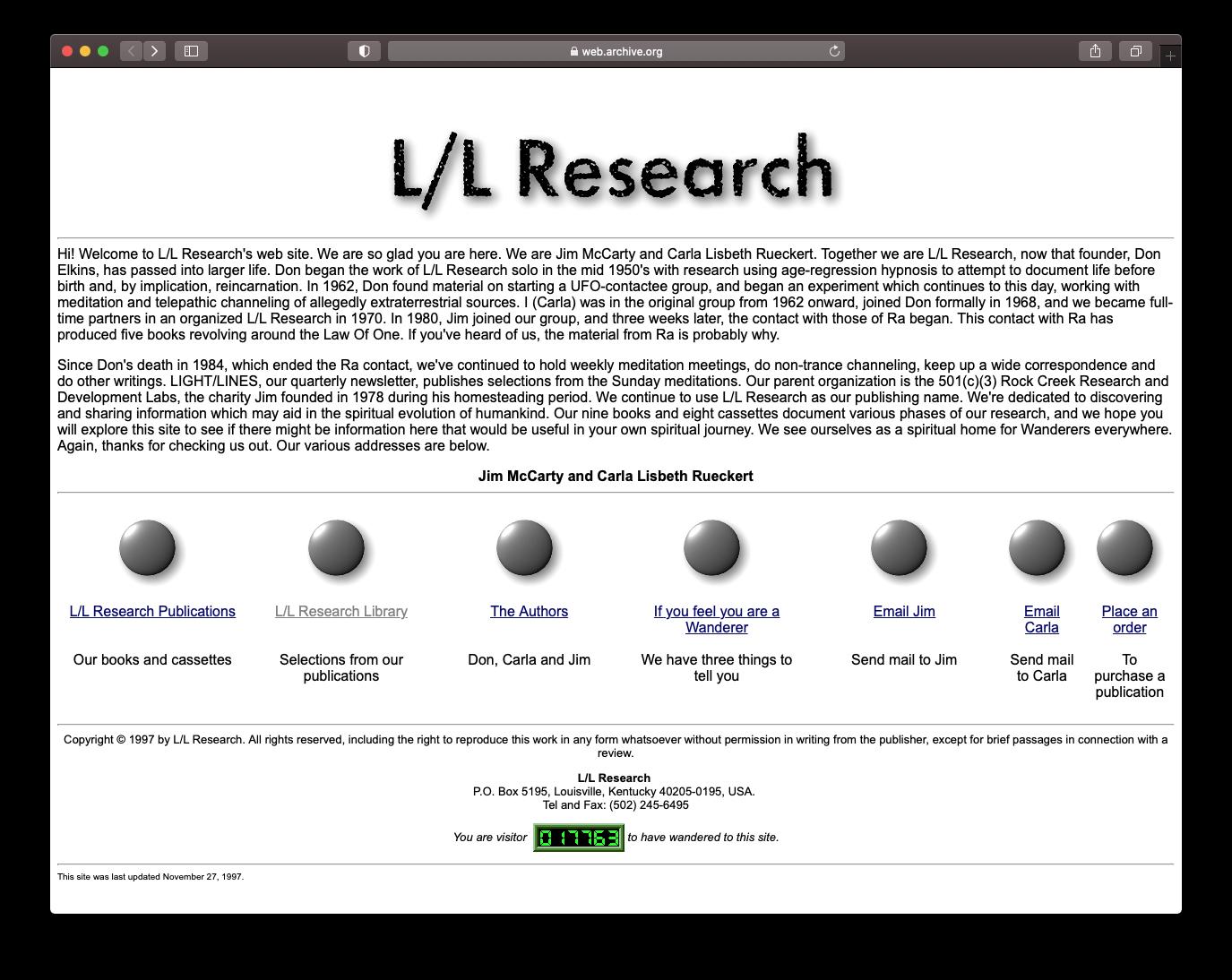 LLResearch.org - 1997