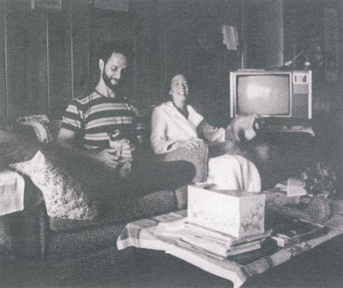 Jim and Carla on sofa